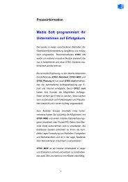 Media Soft programmiert Ihr Unternehmen auf ... - Media Soft GmbH