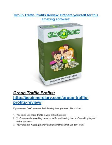 Group Traffic Profits Review-TRUST about Group Traffic Profits and 80% discount