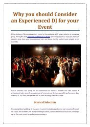 Why you should consider an experienced DJ for your event
