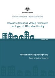 Innovative Financing Models to Improve the Supply of Affordable Housing