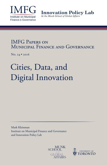 Cities Data and Digital Innovation
