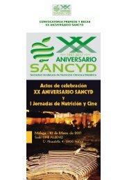 CONVOCATORIA PREMIOS Y BECAS XX ANIVERSARIO SANCYD