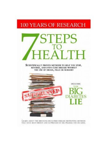 7 steps to health big diabetes lie