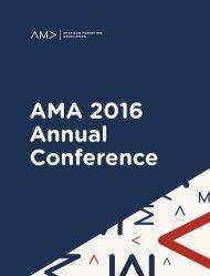 AMA 2016 Annual Conference