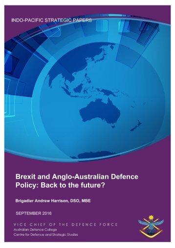 Brexit and Anglo-Australian Defence Policy Back to the future?
