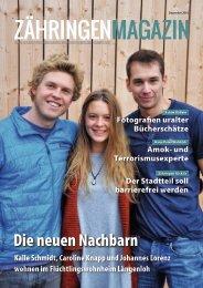 Zähringen Magazin, Dezember 2016