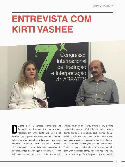 Revista ABRATES - DEZEMBRO 2016 - 2ª Edição