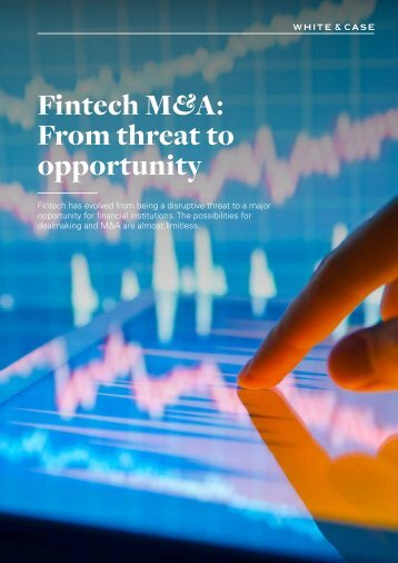 Fintech M&A From threat to opportunity
