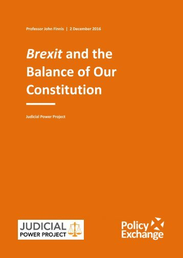 Brexit and the Balance of Our Constitution