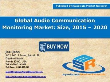 Global Audio Communication Monitoring Market: Size, 2015 – 2020