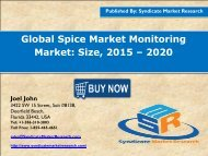 Global Spice Market Monitoring Market: Size, 2015 – 2020