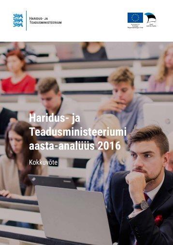 Haridus- ja Teadusministeeriumi aasta-analüüs 2016