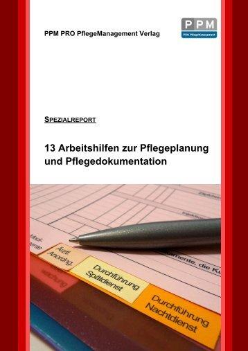 13 Arbeitshilfen zur Pflegeplanung und Pflegedokumentation