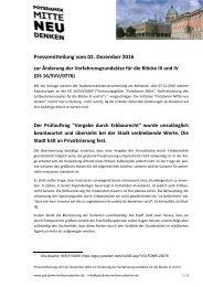 Pressemitteilungvom02.Dezember2016 zurÄnderungderVerfahrensgrundsätzefürdieBlöckeIIIundIV (DS16/SVV/0776).