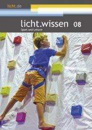"""licht.wissen 08 """"Sport und Freizeit"""