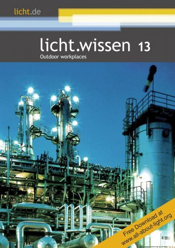 "licht.wissen No. 13 ""Outdoor workplaces"""