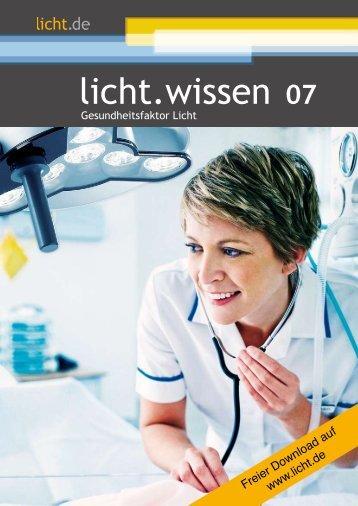 """licht.wissen 07 """"Gesundheitsfaktor Licht"""""""