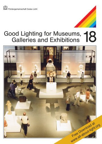 "licht.wissen No. 18 ""Good Lighting for Museums, Galleries and Exhibitions"""