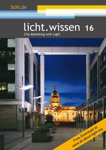 "licht.wissen  No. 16 ""City Marketing with Light"""