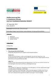 Stadterneuerung Retz 9. Arbeitskreis-Sitzung KULTUR ...
