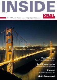 KRAL Gewinnspiel Durchflussmessung KRAL-USA, Inc. Pumpen