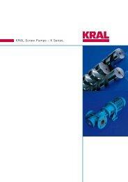 KRAL Screw Pumps – K Series. - KRAL AG