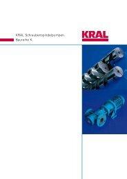 KRAL Schraubenspindelpumpen. Baureihe K.