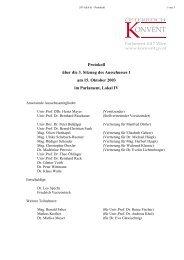 Protokoll über die 3. Sitzung des Ausschusses 1 am 15. Oktober ...
