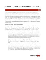 Private Equity & the New Leases Standard