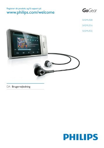 Philips GoGEAR Baladeur MP4 - Mode d'emploi - DAN