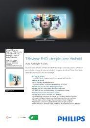 Philips 8100 series Téléviseur FHD ultra-plat avec Android™ - Fiche Produit - FRA