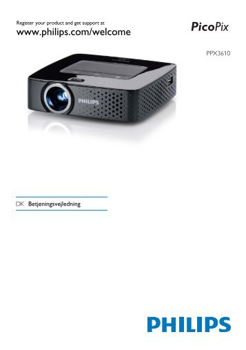 Philips PicoPix Projecteur de poche - Mode d'emploi - DAN