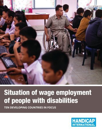 Situation of wage employment of people with disabilities