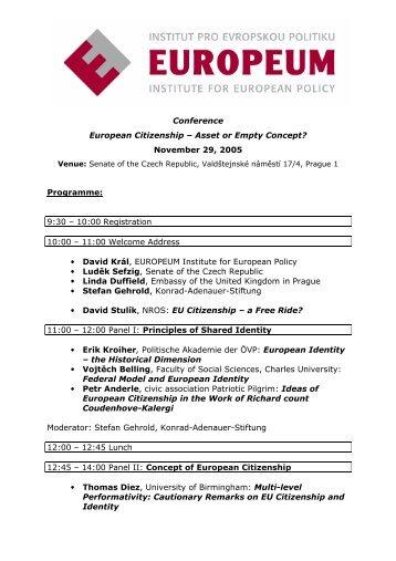 Conference European Citizenship œ Asset or Empty Concept ...