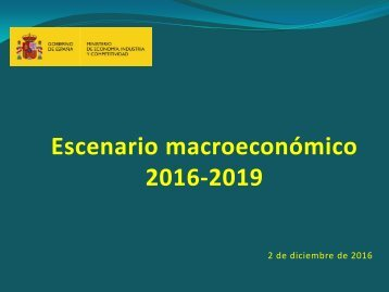 Escenario macroeconómico 2016-2019