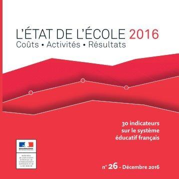 L'ÉTAT DE L'ÉCOLE 2016