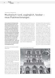 MuLi_06-16_Musikalisch rund, zugänglich, fassbar - neue Psalmvertonungen (Andreas Gut)