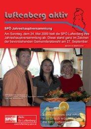 GemeinderatskandidatInnenliste 09 - SPÖ Luftenberg