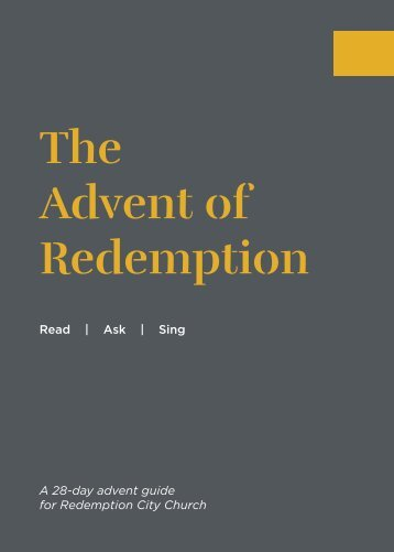 The Advent of Redemption