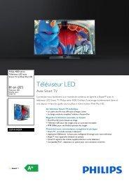 Philips 4000 series Téléviseur LED - Fiche Produit - FRA