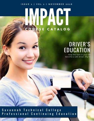 Impact Course Catalog- vol 1-issue 1 -Nov 2016
