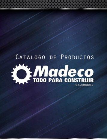 Catalogo Madeco: Hierro - PVC - Pegos y Compuestos