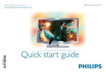 Philips 9000 series Téléviseur LED Smart TV - Guide de mise en route - CES
