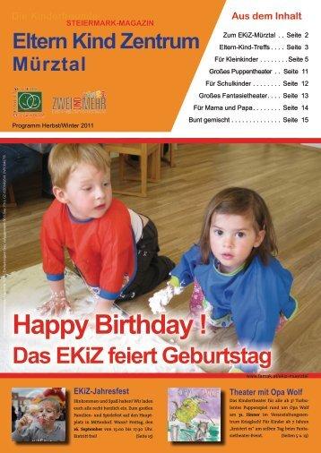 Happy Birthday ! - Familienakademie der Kinderfreunde Steiermark