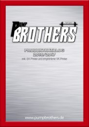 Produktkatalog Pump Brothers Nutrition
