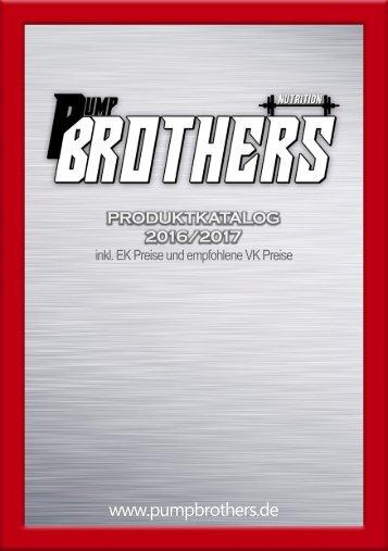 Produktkatalog Pump Brothers Nutrition