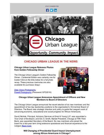 CHICAGO URBAN LEAGUE IN THE NEWS