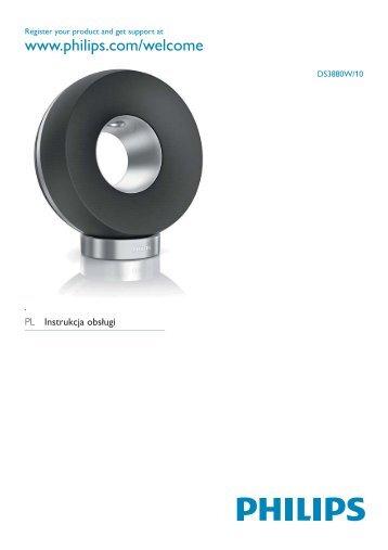 Philips Fidelio Enceinte sans fil SoundRing - Mode d'emploi - POL