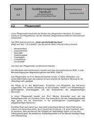 Kapitel 4.2 Qualitätsmanagement - Handbuch 4.2 Pflegemodell