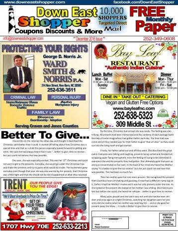 Down East Shopper - December Issue
